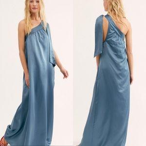 Free People Soa Dress Ocean Blue Size Small - NWT